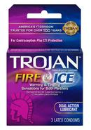 Trojan Condom Pleasures Fire And Ice Dual Action Lubricant...